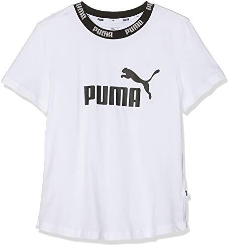 PUMA Mädchen Amplified Tee G T Shirt, White, 152