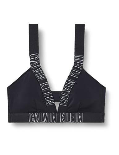 Calvin Klein Damen Plunge Bralette-RP Bikinioberteil, Schwarz (Pvh Black 094), (Herstellergröße: S)