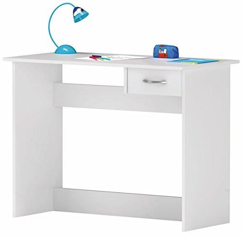 Escritorio Mesa de Estudio Juvenil 100 cm. Blanco. para Ordenador, habitación Infantil.