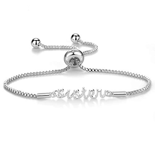 Philip Jones Silver Sister Bracelet Created with Austrian Crystals