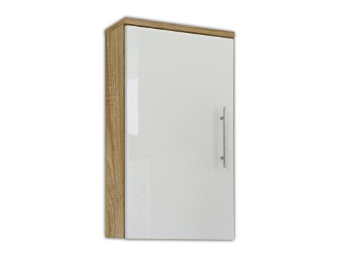 Posseik Santana Hängeschrank, Sonoma/Eiche/weiß, 40 x 20.5 x 68 cm