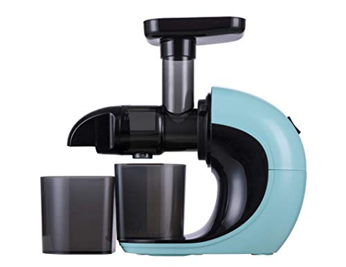Slow Juicer,Sunmaki Masticating Juicer Machine for Nutrients Preservation, Anti-Clogging, Easy to Clean, Quiet Motor,Cold Press Juicer with Brush Recipes for Fruits and Vegetables