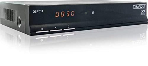 Schwaiger DSR511 Digitaler Satellitenreceiver (Free to Air, SCART, Display, EPG, vorprogrammiert) schwarz