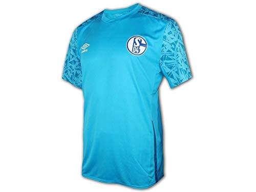 UMBRO Schalke 04 Training Shirt 20 21 blau S04 Fußball Trikot Fanartikel Jersey, Größe:M