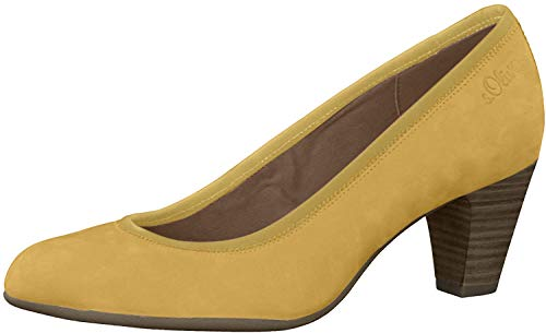 s.Oliver Damen Pumps 22425-24, Frauen Klassische Pumps, feminin elegant Women's Women Woman Freizeit leger Court-Shoes Lady,Yellow,38 EU / 5 UK