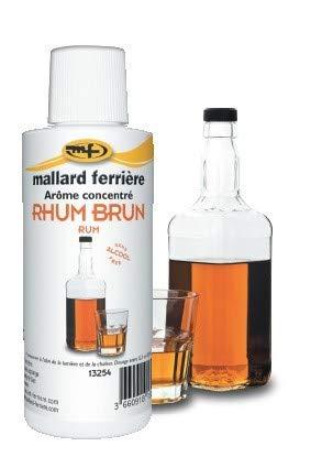 Mallard Ferrière - Flacon Arôme Concentré 115 Millilitres - Rhum Brun - Sans Alcool