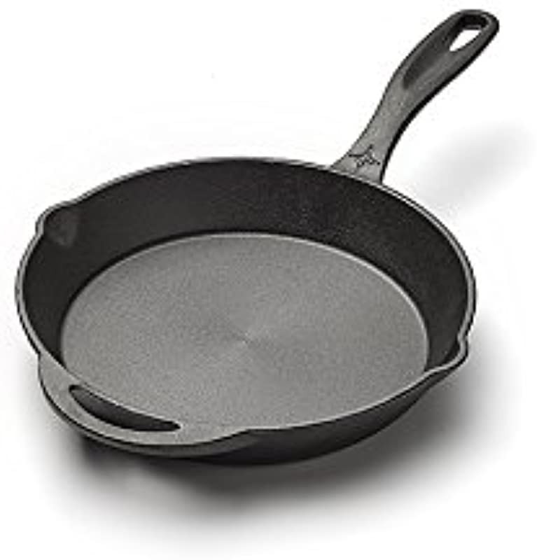 Barebones Cast Iron Skillet 10 Inches Comfortable Grip Interchangeable Lid