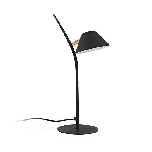 Kave Home - Lámpara de sobremesa Aurelia negra de acero