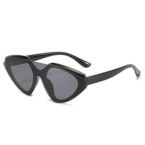 WANGZX Lente Integrada Gafas De Sol Retro con Forma De Ojo De Gato Gafas De Sol para Hombres Y Mujeres Lentes De Color Gafas De Sol Moda Street Photo C01