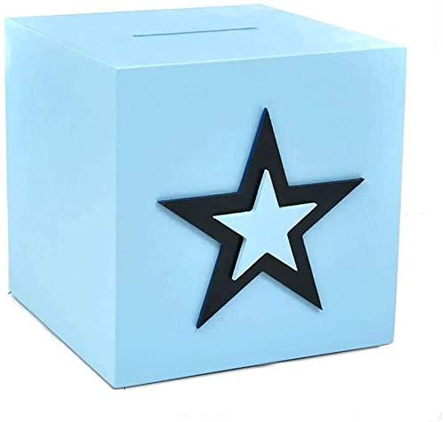 NIANXINN Piggy Bank Piggy Bank Blue Large-Capacity Piggy Bank an Unopenable Money Box Coin Storage Bank Money Box