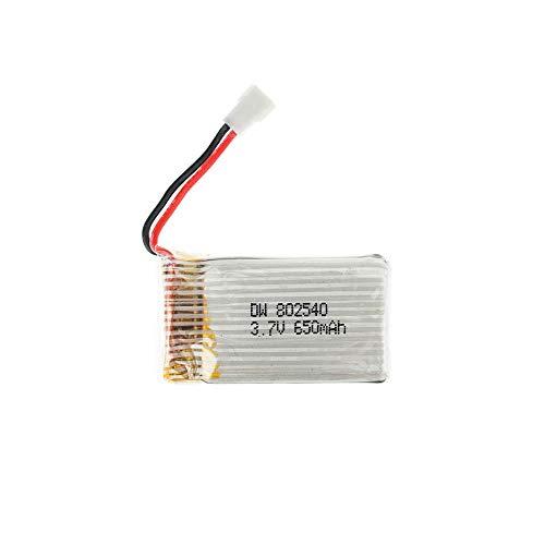 rpbll 50pcs 3.7V 650mAh batería li-po 802540 Syma X5C-1 X5C X5 X5SC X5SW X6SW RC H9D H5C RC Drone Partes-3.7V