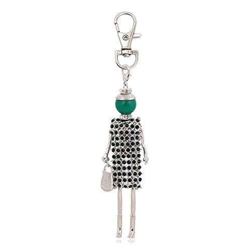 HumoliStore Llavero femenino de la moda personalizada, llavero de diseño, soporte colgante del encanto de la joyería del encanto, anillo de llaves de la bolsa, accesorios para mujer Mano de obra exqui