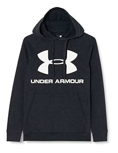 Under Armour Herren Oberteil Rival Fleece Sportstyle Logo Hoodie, Schwarz, L, 1345628-001