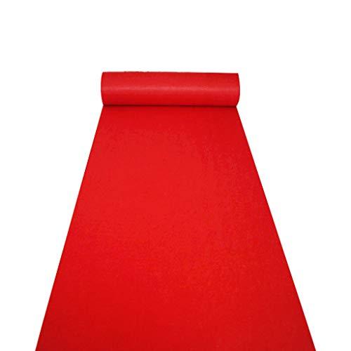 ALFYMX moqueta por Metros Alfombra roja Gruesa Alfombra de Boda Exposición inauguración Boda celebración Piso Corredor Alfombra roja (Color : A, Size : 1m×10m)