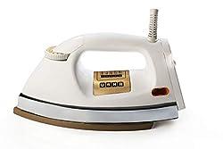 Usha EI 3710 Heavy Weight 1000-Watt Dry Iron, 1.75 Kg(White),USHA International LTD,EI 3710