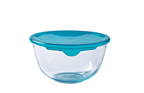 Pyrex Glass 0.5L Bowl with Lid, Green