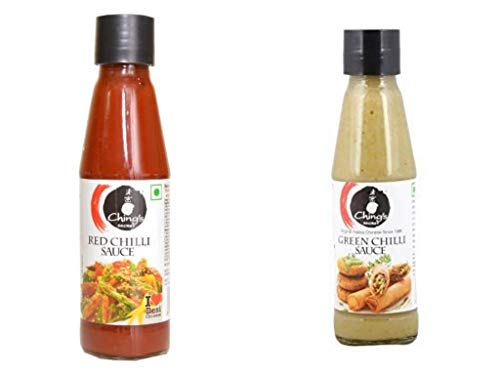 Chings Lovers Selections Red Chili Sauce + Green Chili Sauce