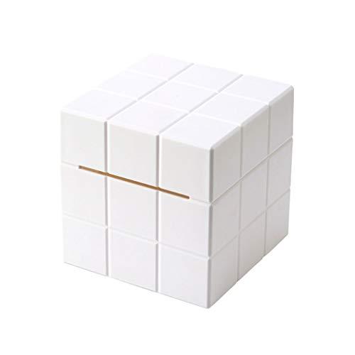 XZJJZ Caja de Tejido de Nuevo Cubo Diseño Tallado al Hueco Destacado extraíble Solucionamiento de Almacenamiento de Estilo nórdico (Color : C)