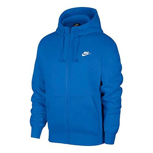 NIKE SP2020 Sweatshirt, Pacific Blue/Pacific Blue/White, L Mens