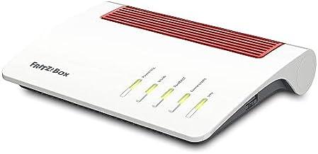 AVM FRITZ!Box 7590 AX (Wi-Fi 6 Router mit 2.400 MBit/s (5GHz) & 1.200 MBit/s (2,4 GHz),bis zu 300 MBit/s mit VDSL-Supervec...