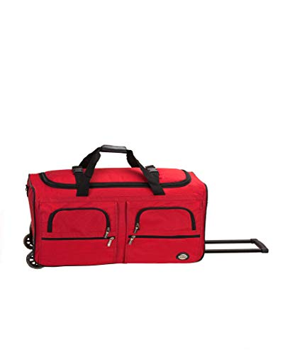 Rockland Rolling Duffel Bag, Red