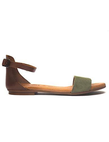 Sandalias para Mujer Kaola 581 Serraje-Vaq Kaki-Abedul