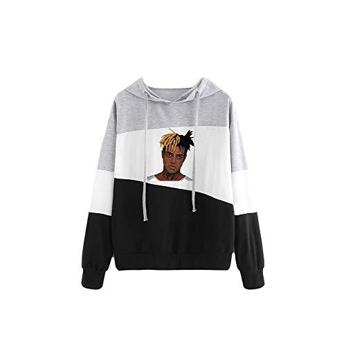 Kerlana Xxxtentacion Pullover Lose Sweatshirts Hipster Hoodies Printed Pullover Lässige Strickjacke Top Unisex (Color : Black05, Size : XL)