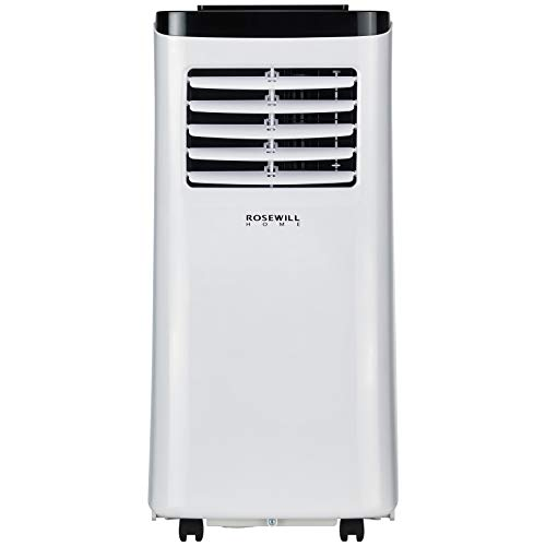 Rosewill Portable Air Conditioner 8000 BTU, AC Fan & Dehumidifier 3-in-1 Cool/Fan/Dehumidify w/Remote Control, Quiet Energy Efficient Self Evaporation AC Unit for Single Room Use, RHPA-18001