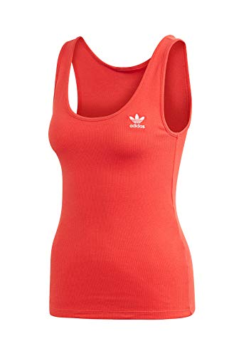 adidas Damen Tank TOP, Lush red/White, 46