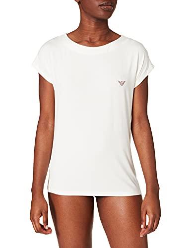 Emporio Armani 164439 1P289 01411 Camiseta, Marfil, S para Mujer