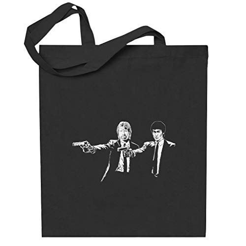 Cloud City 7 Bruce Lee and Chuck Norris Pulp Fiction Totebag