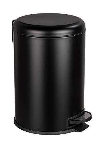 WENKO Papelera para cosméticos (20 L), color negro