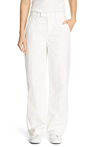 Alex Mill High Rise Straight Leg Trouser in Garment Dyed Cotton Twill, White 12