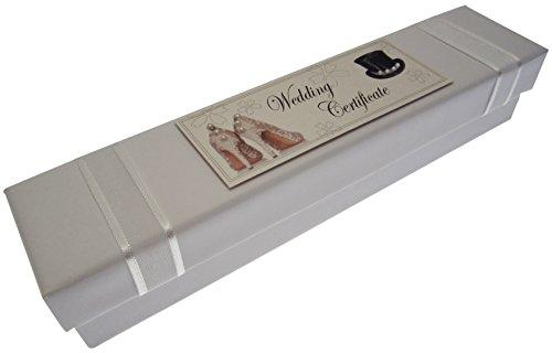 White Cotton Cards pour acte de mariage (Chapeau et chaussures)