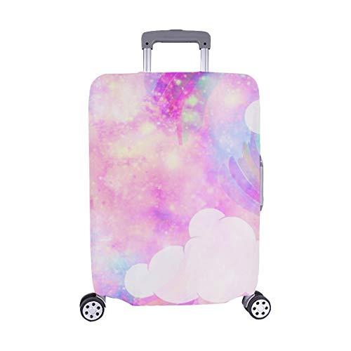 Unicornio Galaxy Cloud Rainbow Fantasy Imprimir Stock Ilustración Patrón Spandex Maleta de Viaje...