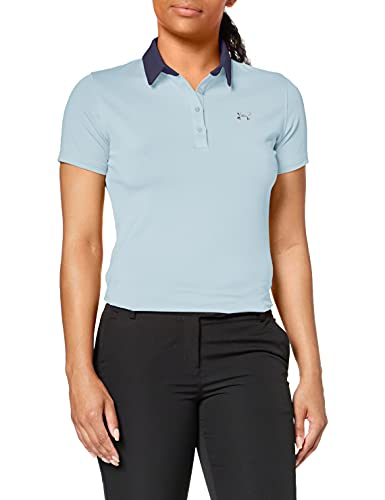 Under Armour Women's Zinger Short Sleeve Golf Polo, Blue Frost (494)/Blue Ink, XX-Large