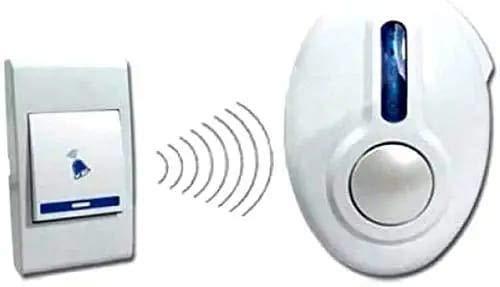 SHREE HARI SQUARE Wireless Doorbell Kit Over 100 Feet Range Multi Rings Door Bell Chime LED Flash Cordless Wireless Calling Remote Door Bell for Home Shop Office(Multi Design)