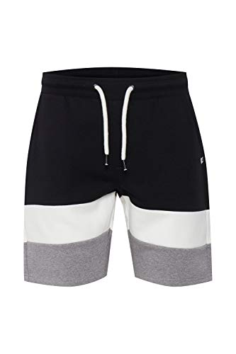Indicode Caul - Pantalones cortos de chándal para hombre con cordón Negro (999) XL