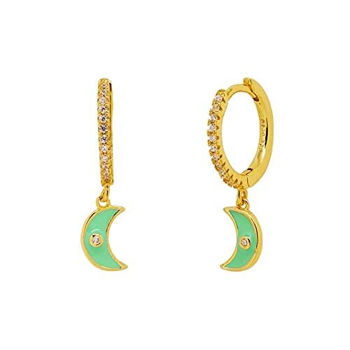 SEARCH Orecchini smaltati colorati orecchini da Donna con anello al Neon orecchini-4