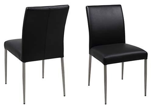 AC Design Furniture–Silla de Comedor Sala 50809Sillas Negro L/B/H Aprox. 46/58/87cm