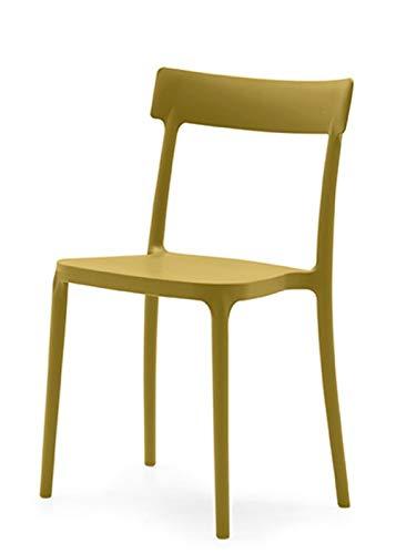 Calligaris Connubia Set 4 sedie Argo Senape