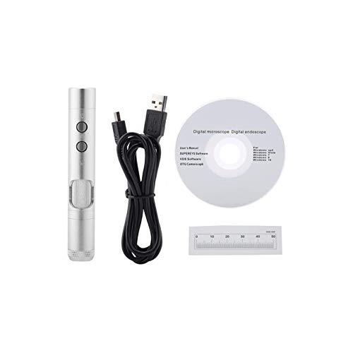 Lupas iluminadas montadas en la cabeza , Lupa de microscopio digital USB, B011 5.0MP 500x Lente intercambiable de mano Microscopio digital USB de mano lupa o control de calidad para pasatiempos, lectu