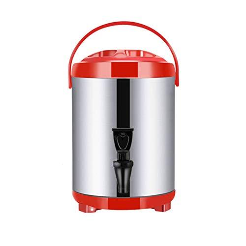 TOHOYOK Edelstahl isolierte Getränkespender, Doppelschicht-isoliertes Fass, große Kapazität Thermosflasche, Milch Tee, Kaffee-Milchbehälter, benutzten for Haus, Geschäft, Büro, 8L ~ 18L
