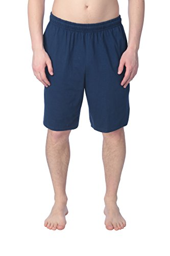 Fruit of the Loom Men's Cotton Shorts with Side Pockets (Single Pack), Deep Cobalt/S