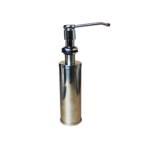 DOITOOL 1 Pieza Dispensador de Jabón líquido de Acero Inoxidable Dispensador jabon Cocina bajo encimera Dispensadores de loción y de jabón para baño
