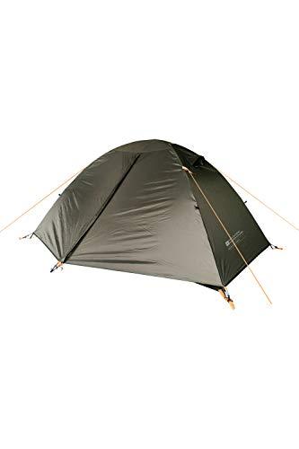 Mountain Warehouse Tente Backpacker pour 2 Personnes - Imperméable à 2 000 mm, légère, avec Un Porche de Rangement et Un Emplacement pour Les moustiquaires. Camping Vert Taille Unique