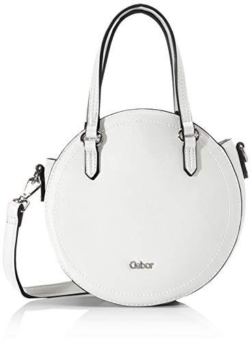Gabor Umhängetasche Damen, Weiß, Morena, 20,5x8x20,5 cm, Schultertasche, Handtasche rund