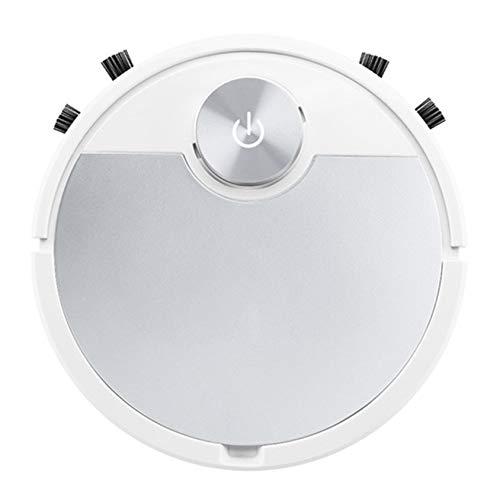 Robot aspirador 3 en 1, aspirador y trapeador inteligente, interruptor táctil, 55 dB, bajo nivel de ruido, anticaída / 1800 Pa, apto para suelos duros, alfombras, pelo de mascotas