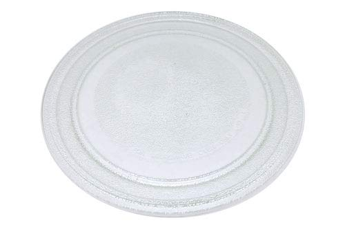 Plato Giratorio transparente para microondas. Diametro Exterior 245 mm. Diametro Interior 180 mm.