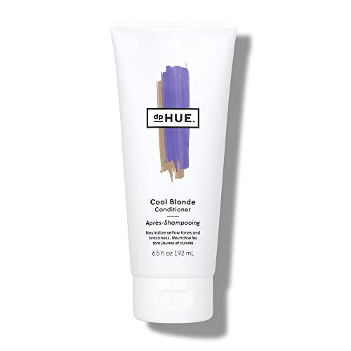 dpHUE Cool Blonde Conditioner, 6.5 oz - Purple Conditioner for Color-Treated Hair - Blonde Toner - Neutralize Unwanted Yellow, Brassy Hair Tones - Moisturizing Conditioner for Soft, Shiny Hair